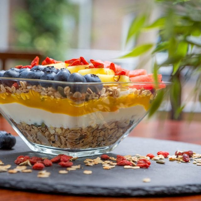 Granola served in the Vitality Breakfast