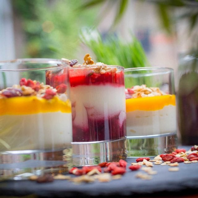 Yoghurt and fruit compote served in the Vitality Breakfast